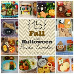 15 Fall and Halloween Bento Lunches at Mine for the Making