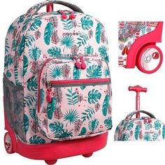 Buy Brand New  Wheeled  Rolling Backpack School Book-Bag Girls Travel Carry  On adf92b1573361