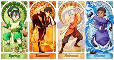 Avatar Art Nouveau - The Four Seasons, by Sanatio