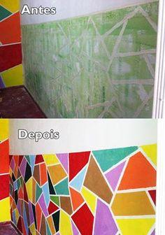 Terminei mais uma parede do atelier. A sua vida está em meros tons de cinza? Coloque mais cores e sinta a energia positiva.