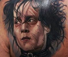 Photo real portrait of Edward Scissorhands
