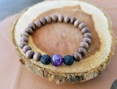 Excited to share the latest addition to my #etsy shop: Essential Oil Diffuser Bracelet, Lava Rock Beads, Sandalwood Beads, Amethyst Gemstone Bead, Diffuser Bracelet, Aromatherapy. http://etsy.me/2DPrmFK #jewelry #purple #birthday #black #women #boho #paulaparrish