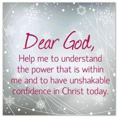 Give me strength to do what you've called me to do Lord!