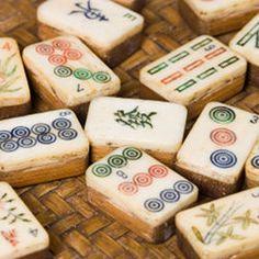 Vintage mahjong tiles
