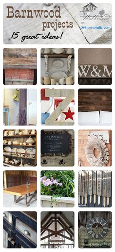 The post DIY & 15 Fabulous Farmhouse Styled Barn Wood Project Tutorials! Barn Wood Crafts, Barn Wood Projects, Reclaimed Wood Projects, Diy Projects, Project Ideas, Salvaged Wood, Diy Furniture, Furniture Vintage, Industrial Furniture
