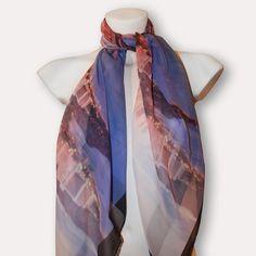 Waikiki silk scarf by MDGRAPHY $215