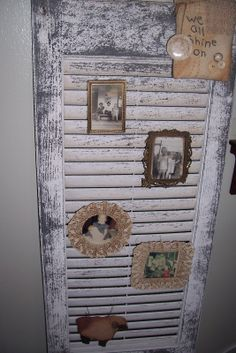 old window projects   and yesterday I brought this old shutter home from my booth at Town ...