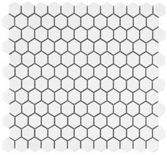 White Hexagon Gloss Ceramic Mosaic Floor and Wall Tile