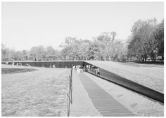 Maya Lin, a Chinese-American student at Yale University, designed the Vietnam Veterans Memorial Wall to be reflective— those stopping to read the names can see themselves reflected in the highly polished surface. In order of date of death, names of the over 58,000 American missing or dead are chiseled into the granite without reference to rank or branch of military service.