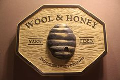 BEE HIVE SIGN | small business signs | company logo signs | personalized signs | custom wooden signs | hand carved signs | hand made signs