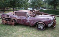 Feast your eyes on The Best Bad Redneck vehicles and start your droolin'! These badass and funny redneck cars and trucks, boats, bikes and tractors are s Mad Max, Weird Cars, Cool Cars, Crazy Cars, Batman Auto, Porsche 356, Redneck Humor, Redneck Trucks, Redneck Quotes