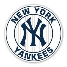 New York Yankees Round Decal / Sticker Die cut New York Yankees, Yankees Logo, Yankees News, New Era 9twenty, Chicago Cubs World Series, New York Logo, Die Cut, Newsletter Design, Aesthetic Stickers