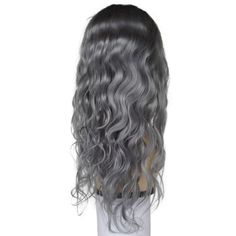 Sultry Gray Front Lace Wig Density Available – Human Hair Light Lace Natural Hairline Body Wave Style Grey Hair Mask, Gray Hair, Lace Front Wigs, Lace Wigs, Wig Hairstyles, Straight Hairstyles, Black Hairstyles, Premature Grey Hair, Foam Wigs