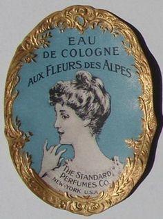 vintage perfume label images   EAU DE COLOGNE Vintage Standard Perfumes Co Perfume Label (PER063)