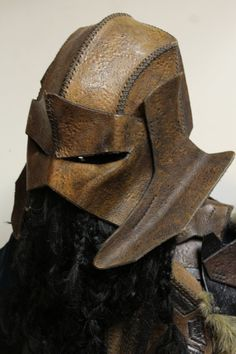 Uruk-hai Leather Helmet by EverythingIncluded on Etsy