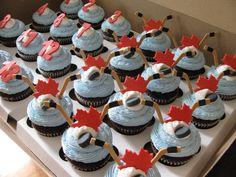 Canada Hockey Cupcakes
