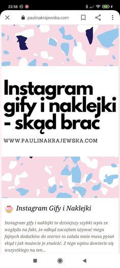 Instagram Gify i Naklejki #instahack #instahacks #instagram #rady #porady #naklejki #naklejka #gify Instagram, Movie Posters, Film Poster, Billboard, Film Posters