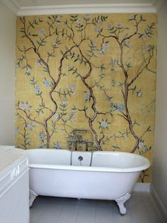 Trend Alert: 5 Baths with Floral-Patterned Tile. Chinese Wallpaper Tiles | Remodelista