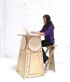 QMB combines a round bar height table with four by QuadMicroBar