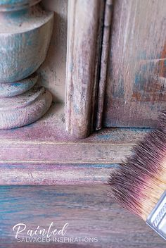 Furniture Painting With Wax-Close Up of Pink and Brown Wax