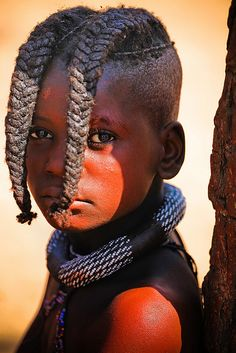 A Himba girl from Namibia