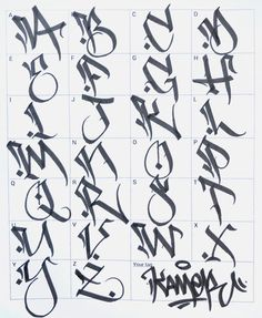 Graffiti letters: 61 graffiti artists share their styles - Graffiti buchstaben - Art Graffiti Alphabet Styles, Graffiti Lettering Alphabet, Tattoo Fonts Alphabet, Chicano Lettering, Graffiti Writing, Graffiti Designs, Street Art Graffiti, Graffiti Artists, Grafitti Letters
