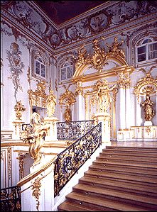 PETERHOF PALACE --The great foyer staircase