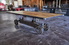 Train Crank table by Vintage Industrial in Phoenix