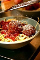 meatballs and spaghetti from smiten kitten