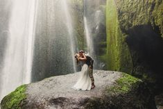Iceland Waterfall Day After is my new favorite place for Wedding Photos!