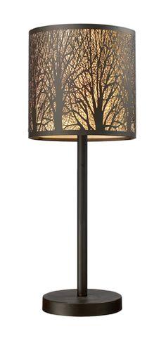 ELK 310721 Woodland Sunrise Contemporary Rustic Table Lamp - ELK-310721