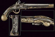 A rare sardinian flintlock pistol, ca. 18th century.