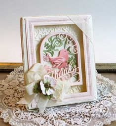 How fun to create a special framed card to give to someone special. I really had fun making this one with this adorable sweet birdie. 3d Frames, Shadow Box Frames, 3d Cards, Folded Cards, New Home Cards, Chalk Ink, Spellbinders Cards, Photo Corners, Kids Artwork