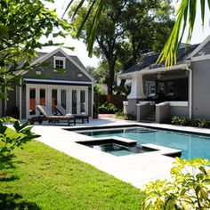 craftsman pool by Sunset Properties of Tampa Bay