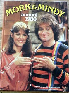 This show always had me laughing so hard. Mork and Mindy - nanu nanu - this show was so hilarious. May you RIP Robin Williams! Robin Williams, Hayley Williams, Photo Vintage, Vintage Tv, Eminem, Emission Tv, Mork & Mindy, Old Shows, Great Tv Shows