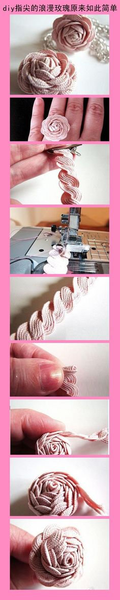 DIY Ric Rac Rose Ring!