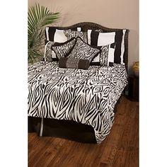Rizzy Home Zebra Duvet Set  at HSN.com.