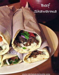 Home Made Beef Shawarma Recipe :http://www.recipesaresimple.com/home-made-beef-shawarma-recipe/