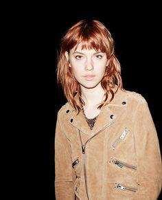Biker jacket in suede - Leather - Women - The Kooples