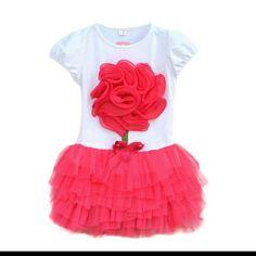 Size 5T pink flower tutu dress New, never worn Dresses Mini