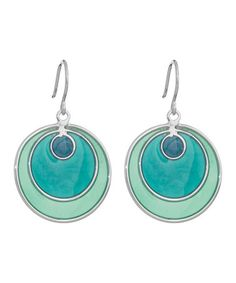 Look at this #zulilyfind! Turquoise & Blue Retro Earrings by Annaleece #zulilyfinds