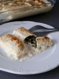 Canelones de Bacalao y Espinacas con Pasas y Piñones / Cod and Spinach Cannelloni with Raisins and Pine Nuts