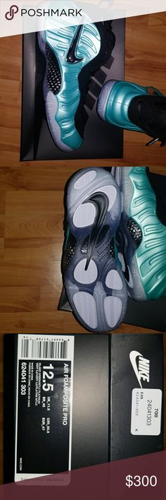 Nike air foamposite pro Island green and platinum Nike Shoes Sneakers