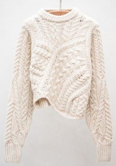 Beige Plain Long Sleeve Round Neck Casual Pullover Sweater