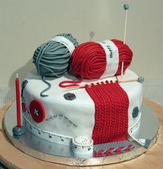 - knitting lover cake