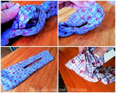 An Easy Way To Make A Fabric Hair Bun Maker - My Humble Home and Garden Sewing Scarves, Sewing Clothes, Sewing Headbands, Diy Hair Scrunchies, Diy Hair Bows, Easy Sewing Projects, Sewing Hacks, Sewing Tips, Sewing Basics