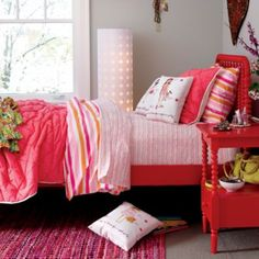 Jenny Lind Nightstand (Raspberry)  | The Land of Nod