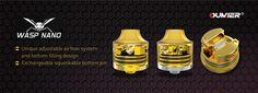 Oumier Wasp Nano RDA, Easy Single Coil Build, Squonker Compatible