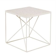 Rio Geometric Side Table - Marble Top