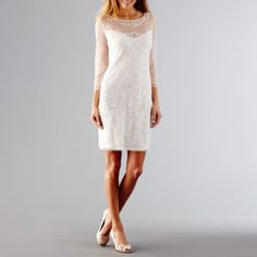 Prelude 3Q Sleeve Beaded Dress - JCPenney